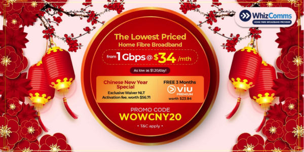 Save up to $388 on 1Gbps Broadband Subscription through WhizComms' Latest Promo!