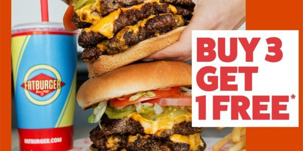 Receive a Free Fat Meal at Fatburger with every 3 purchased!