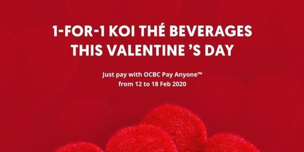 KOI Thé Singapore Valentine's Day 1-for-1 Promotion 12-18 Feb 2020
