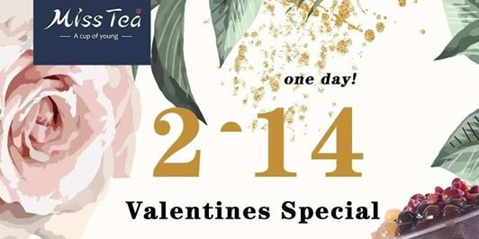 Miss Tea SG 1-for-1 Valentines Special on 14 Feb 2020