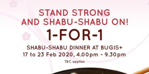 SUKI-YA SG 1-for-1 Shabu-Shabu Promotion 17-23 Feb 2020