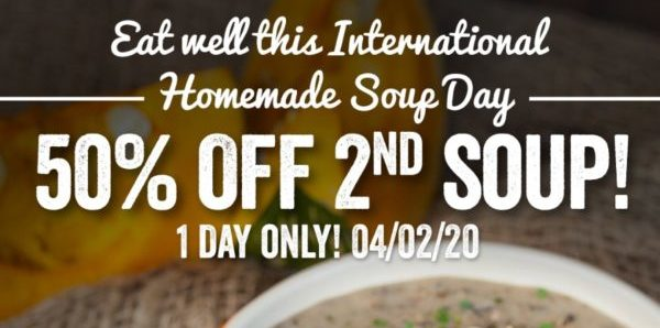 The Soup Spoon SG 50% Off 2nd Soup Promotion 4 Feb 2020