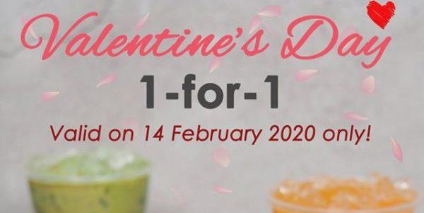 Tuk Tuk Cha SG Valentine's Day 1-for-1 Promotion 14 Feb 2020