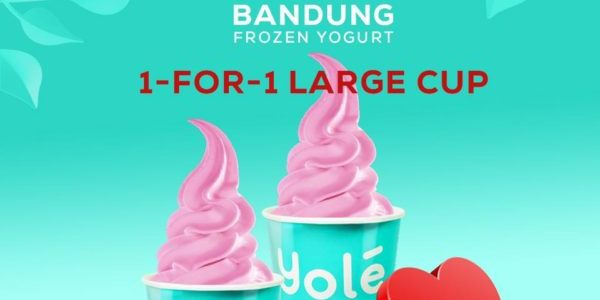 Yolé SG Valentine's Special 1-for-1 Large Bandung Cup on 6 Feb 2020