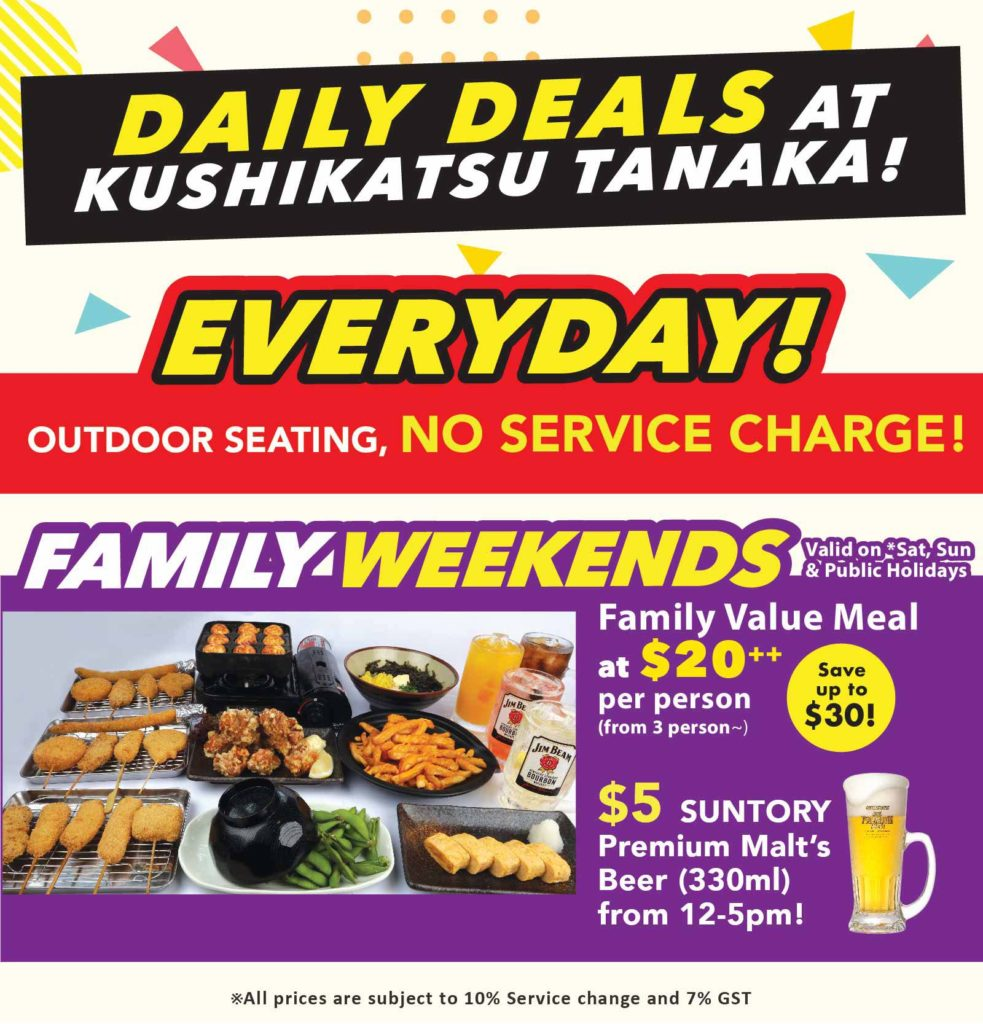 [Promotion] Everyday Is A Party At Kushikatsu Tanaka!   Why Not Deals 3