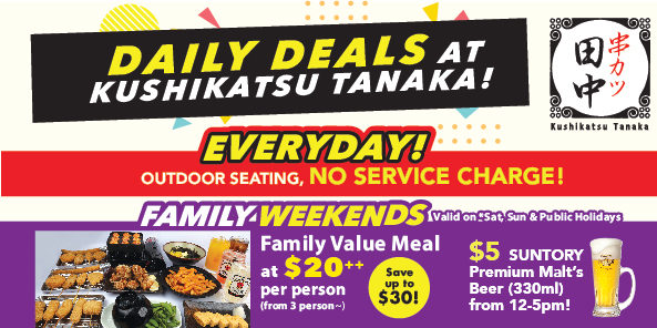 [Promotion] Everyday Is A Party At Kushikatsu Tanaka!