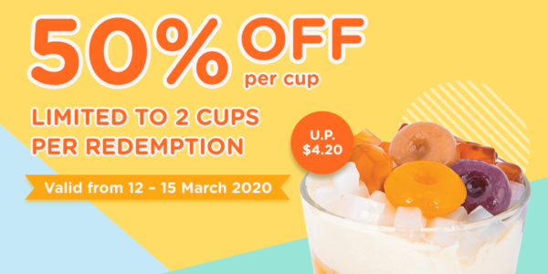 Enjoy 50% OFF your dessert cup at Do Qoo
