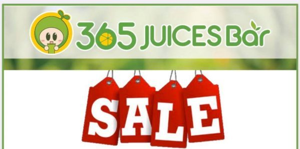 365 Juices Bar is having a Buy 3 Get 1 FREE Promotion