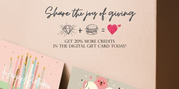 Love & Co 1st e-Gift Card (enjoy an extra 20% credit )