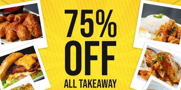 Stickies Bar 75% Off Takeaway Food Items