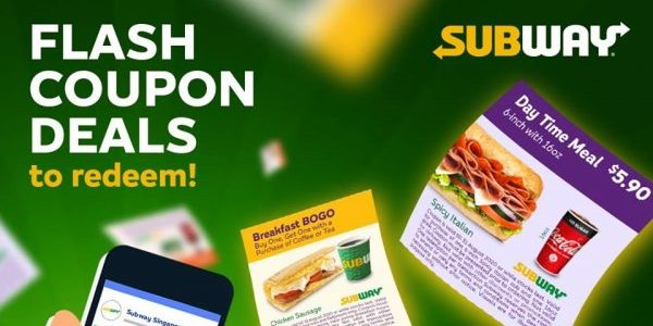 Subway Singapore Takeaway Promotions