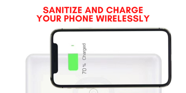 This Device Helps Sanitize & Wirelessly Charge Your Phone