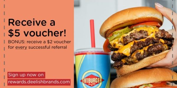 FREE $5 Fatburger voucher and Unlimited $2 up for grabs