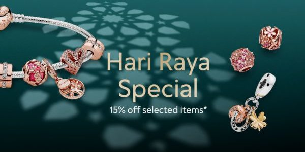 Pandora Hari Raya Special: 15% Off Selected Items