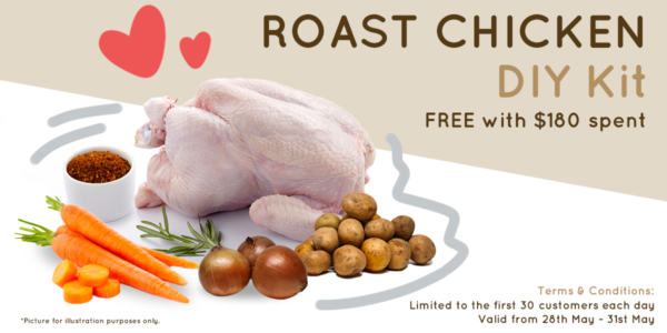 FREE Roast Chicken DIY Kit Exclusively From Portopantry (28 – 31 May 2020)
