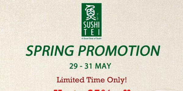 Up to 25% OFF on Sushi Tei's new Spring Promotion for a Limited Time Only!