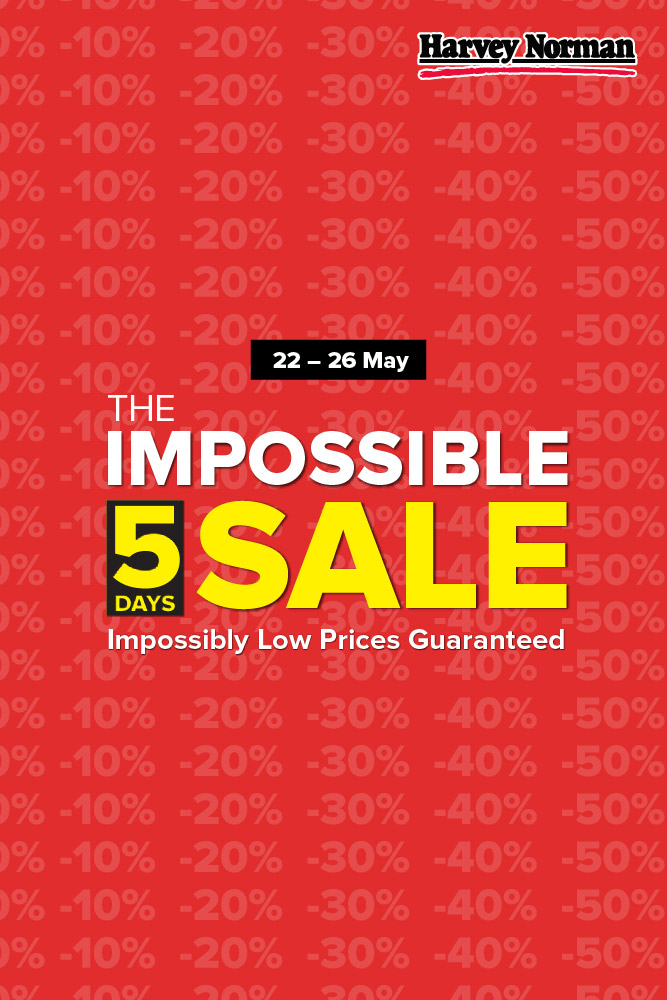 Harvey Norman Singapore 5 Days Impossible Sale Up to 60% Off Promotion | Why Not Deals 6