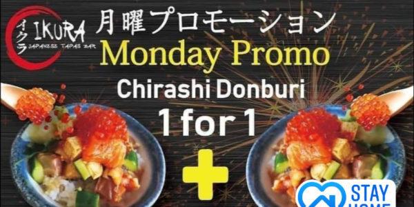 IKURA Japanese Thomson Plaza 1 FOR 1 Chirashi Donburi Promotion on Mondays
