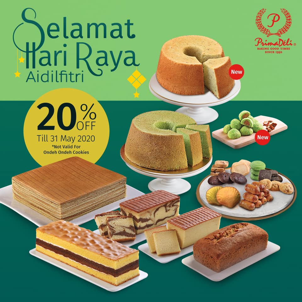 PrimaDeli Singapore 20% Off Hari Raya Goodies Promotion | Why Not Deals