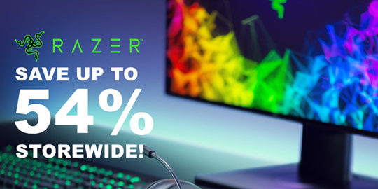 Razer Official Store on Shopee is having 54% Off Storewide Promotion