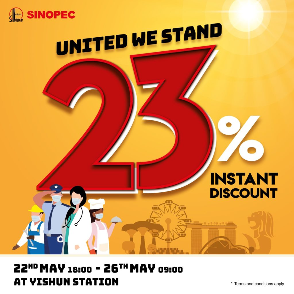 Sinopec Singapore 23% Instant Discount @ Yishun Station | Why Not Deals