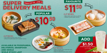 Super Delivery Meals! Save up to 20% from 25th May onwards