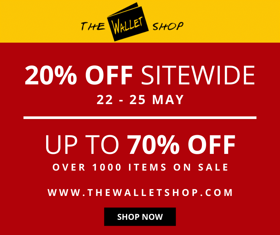 The Wallet Shop 20% Off Sitewide & Clearance Sale | Why Not Deals