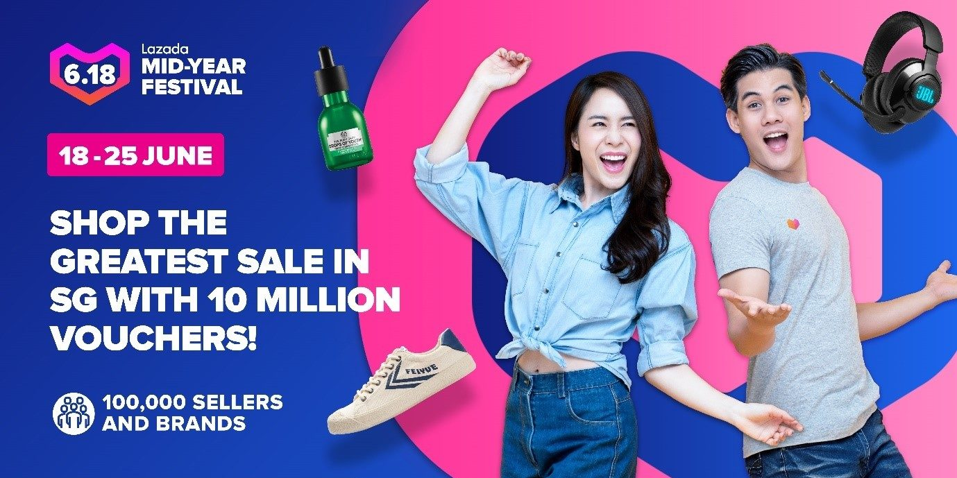Shop till You Drop at Lazada's Mid-Year Festival from 18 to 25 June!