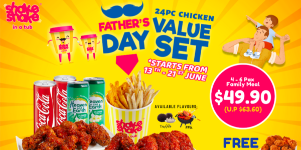 Shake Shake In A Tub Gives FREE Udders Ice Cream & Large Tub Popcorn Chicken Father's day Promo