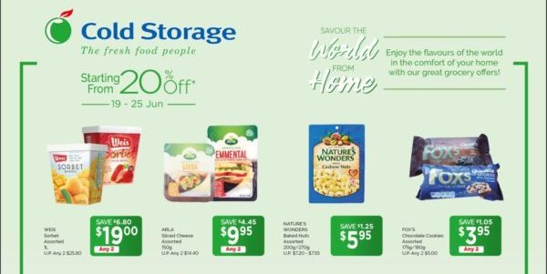 Cold Storage Singapore Grocery Weekly Promotions 19-25 Jun 2020
