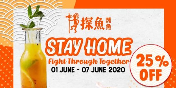 探鱼 Singapore 25% Off Grilled Fish & Drinks Promotion 1-7 Jun 2020