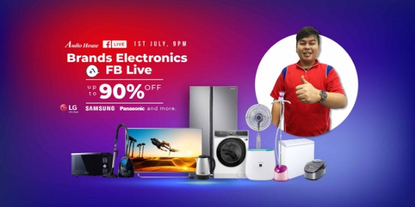 Get the Lowest-ever Electronics Deals at Up to 90% OFF at Audio House Facebook Live This Wed 1 July!