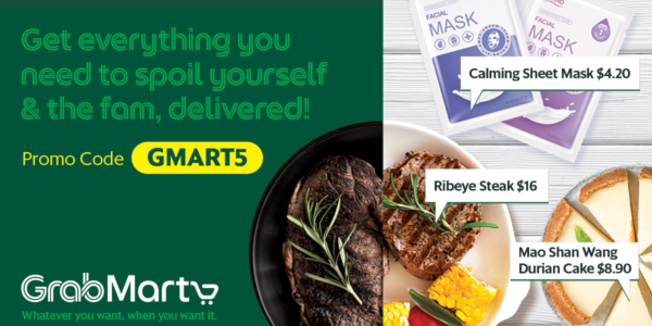 Grab Singapore $5 Off Up to 3 Deliveries From Any GrabMart Store