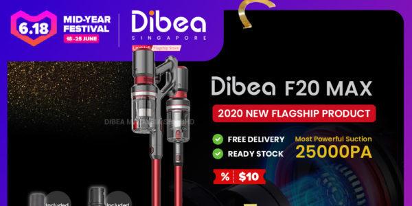 Lazada Singapore Mid-Year Sale Dibea Cordless Vacuum Up to 60% Off Promotion