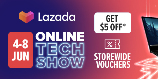Lazada Singapore Online Tech Show Up to 80% Off Promotion 4-8 Jun 2020