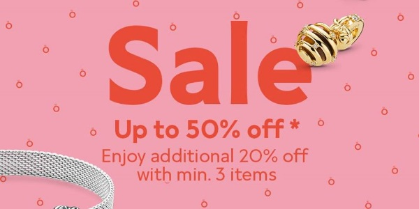 Pandora Singapore Is Having A Sale Up To 50% Off Promotion
