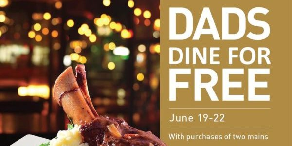 Positano Risto SG Dads Dine For FREE Father's Day Promotion