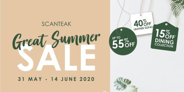 Scanteak SG Great Summer Sale Up to 55% Off Promotion 31 May – 14 Jun 2020