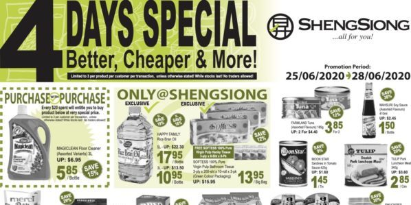 Sheng Siong Singapore 4 Days Special Promotion 25-28 Jun 2020