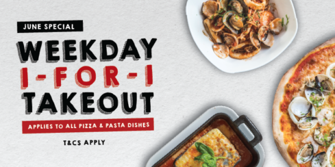 Spizza Singapore Weekday 1-for-1 Pizza Takeout Offer ends 30 Jun 2020