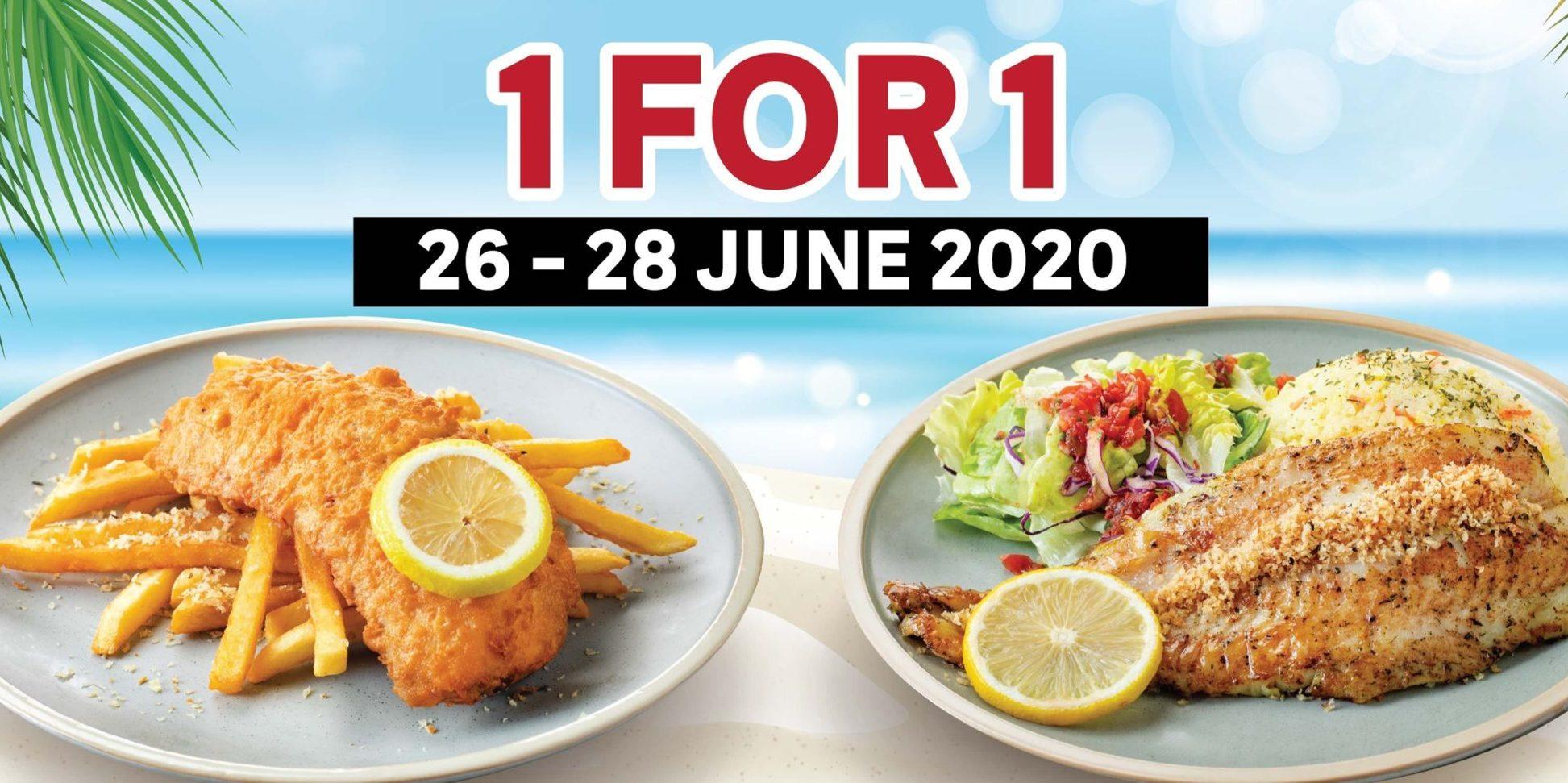 The Manhattan FISH MARKET Singapore 1-for-1 Fish 'n Chips Promotion 26-28 Jun 2020