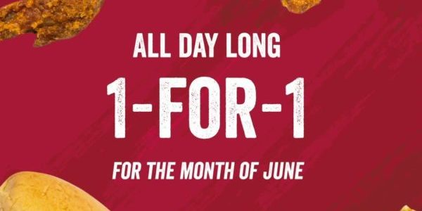 Wing Zone Singapore All Day Long 1-for-1 For Month Of June Promotion
