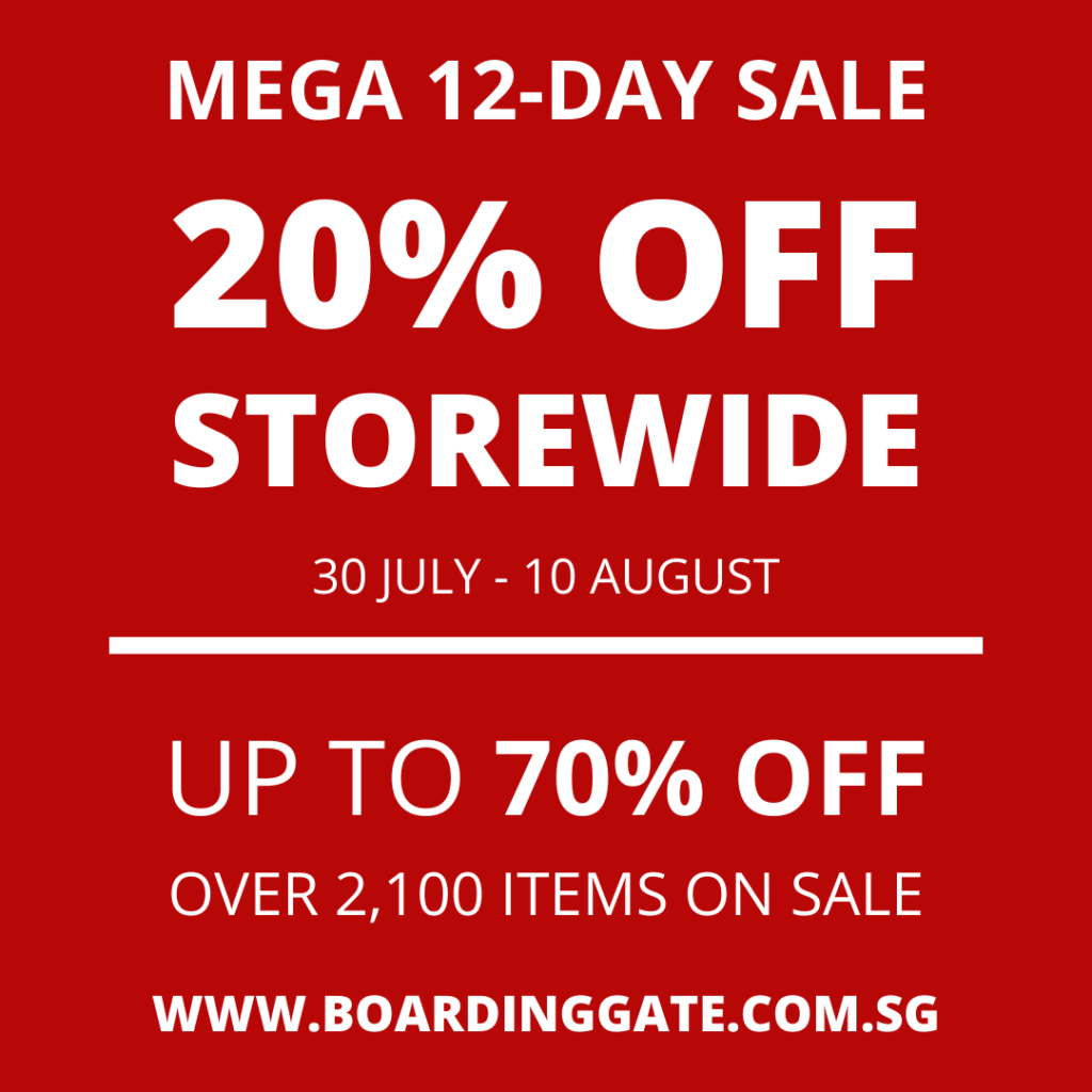 MEGA 12-DAY 20% OFF STOREWIDE SALE - BOARDING GATE | Why Not Deals 5
