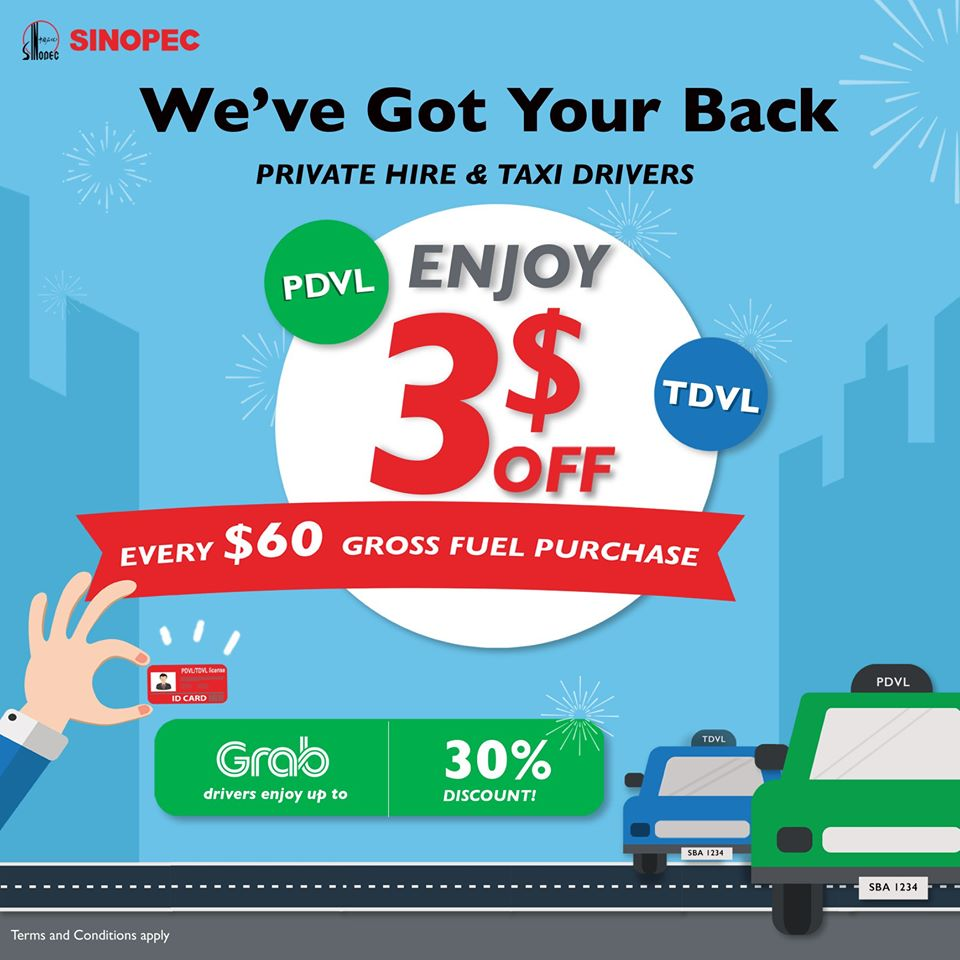 Sinopec SG PDVL & TDVL Drivers Special $3 Off Fuel Purchase Promotion ends 31 Dec 2020 | Why Not Deals 1