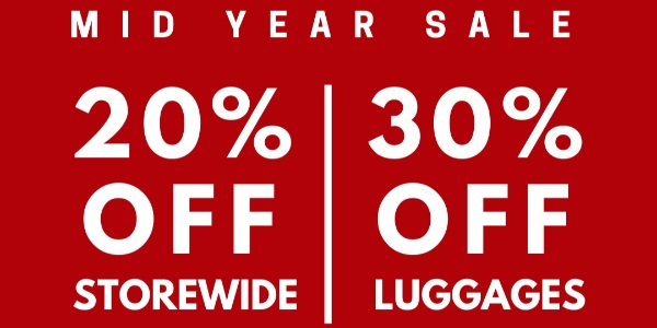 The Planet Traveller SG is having a 20% OFF MID-YEAR STOREWIDE SALE!