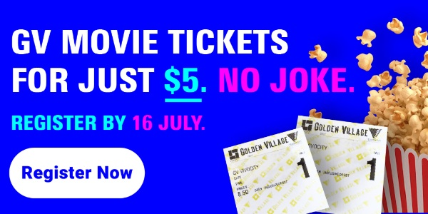 $5 GV movie ticket online sale event