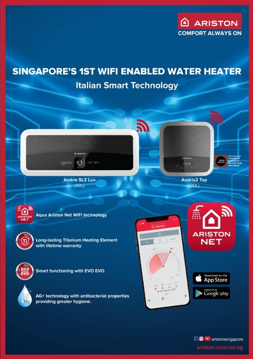 [New Launch] Singapore's First-ever WiFi-enabled Smart Water Heater Now Complete with Full Range | Why Not Deals 1