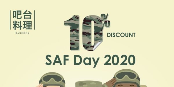Barcook Singapore Celebrates SAF Day with 10% Off Promotion 1 Jul – 31 Aug 2020