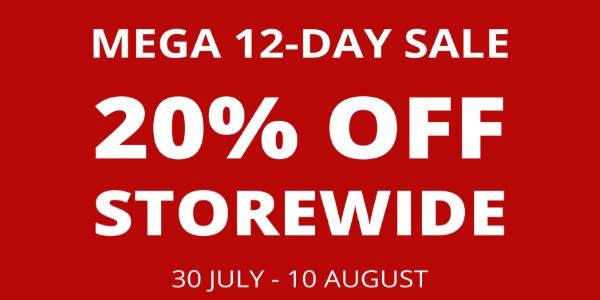 MEGA 12-DAY 20% OFF STOREWIDE SALE – BOARDING GATE