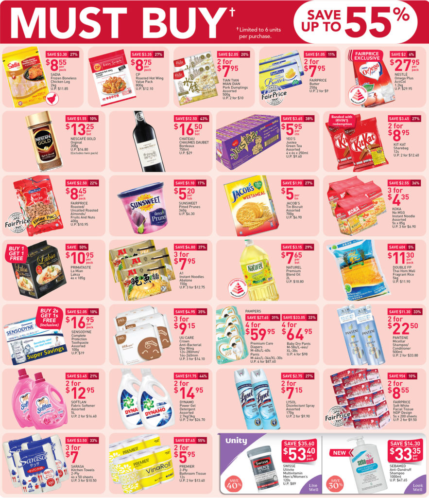 NTUC Fairprice SG Your Weekly Saver Promotions 30 Jul - 5 Aug 2020 | Why Not Deals